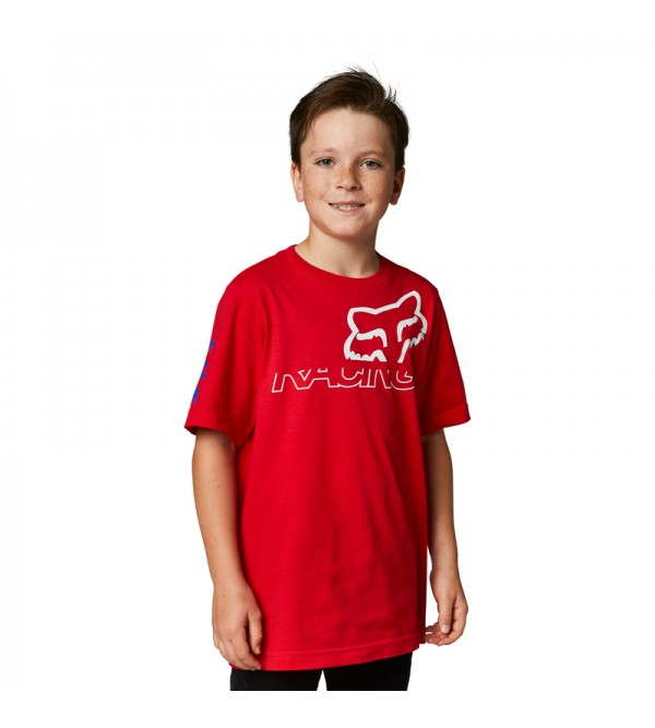 Youth Skew Basic Tee Flame Red