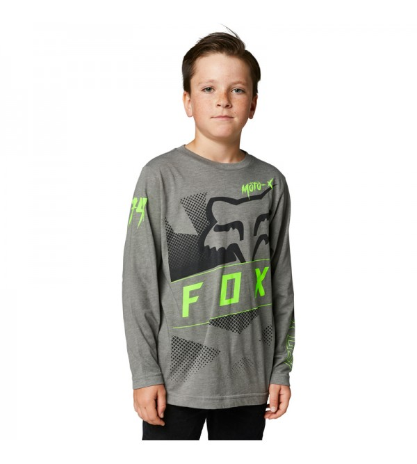 Youth Riet Long Sleeve Tee Heather Graphithe