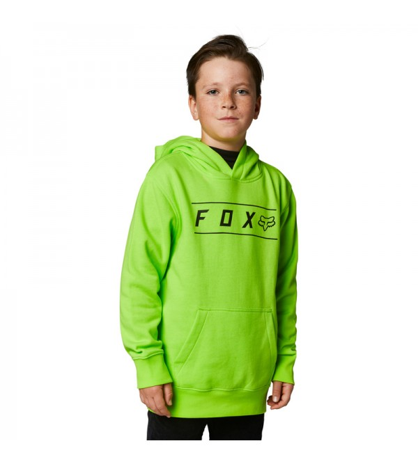 Youth Pinnacle Pullover Hoodie Fluo Yellow
