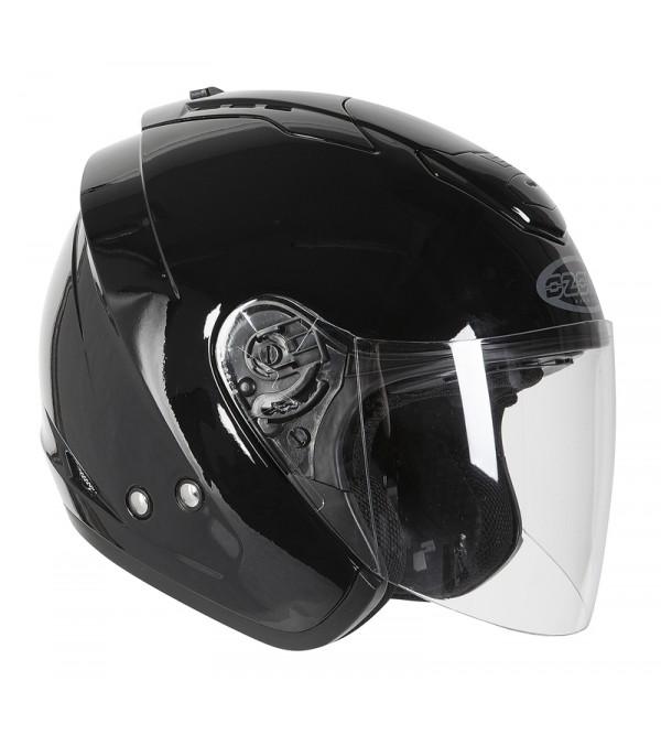 Ozone A802 Black Motorcycle Open Face Helmet