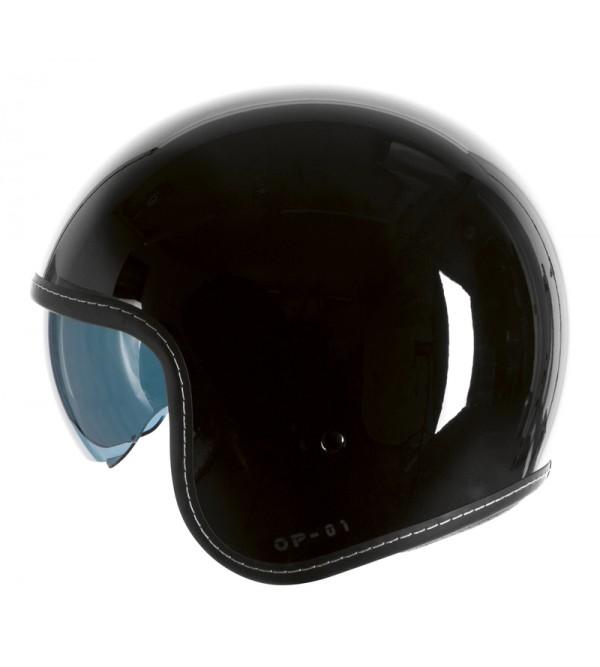 Ozone Op-01 Black Motorcycle Open Face Helmet