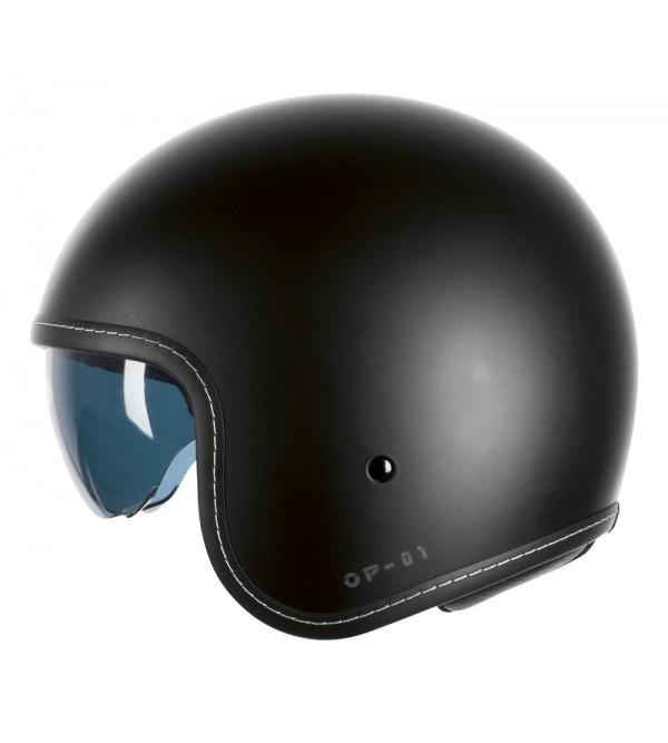 Ozone OP-01 Black Matt Motorcycle Open Face Helmet