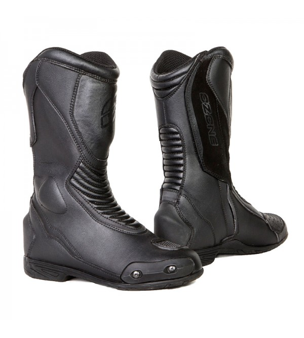 Ozone Force Black Motorcycle Boots