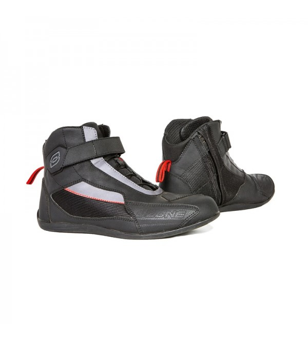 Ozone City Black Motorcycle Boots