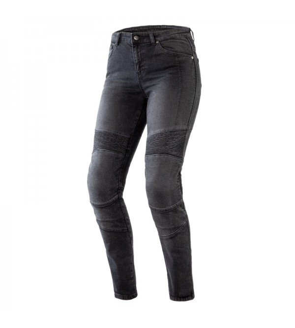 Ozone Agness II Lady Washed Black Motorcycle Jeans