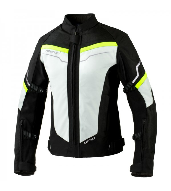 Rebelhorn District Lady Ice/Black/Fluo Yellow Textile Motorcycle Jacket