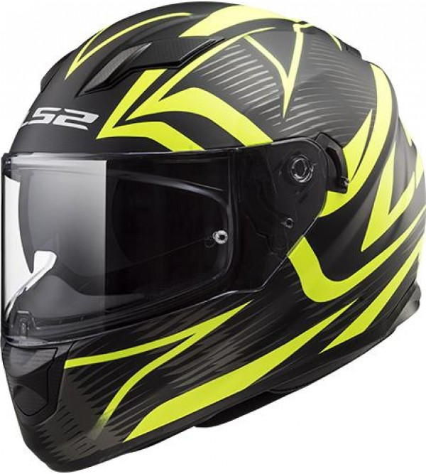 LS2 helmet FF320 STREAM EVO JINK Black Yellow matt