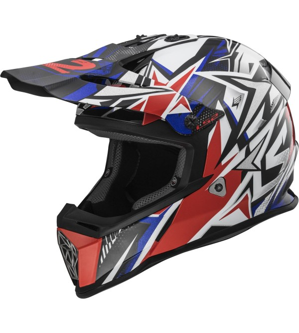 LS2 helmet MX437 FAST MINI STRONG White Red Blue