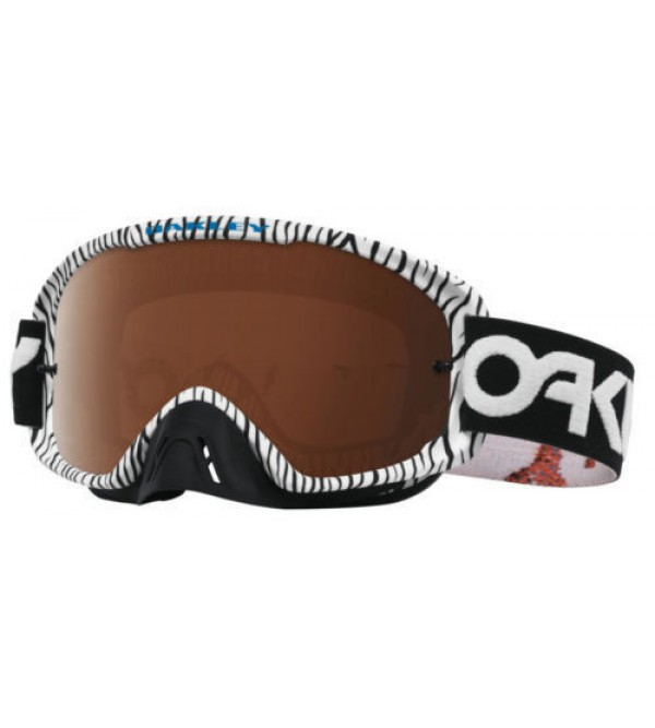 Oakley Brilles O2 MX FP White Bengal-Black Iridiur Clear