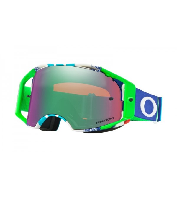 Oakley Brilles Airbrake MX Pinned Race Blue-Stikls...