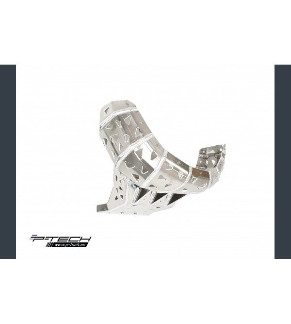 P-Tech Skid plate with exhaust guard for KTM, Husq...