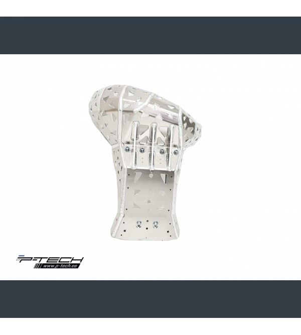 P-Tech Skid plate with exhaust guard for KTM, Husqvarna 250, 300 2019-2021 and Gasgas 250, 300 2021