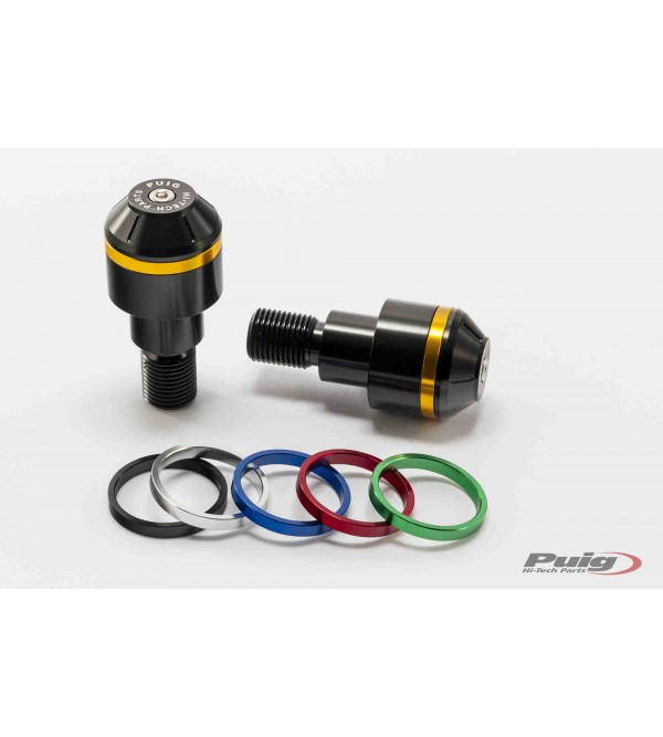 Puig Short Bar end weights with rim 8170N black