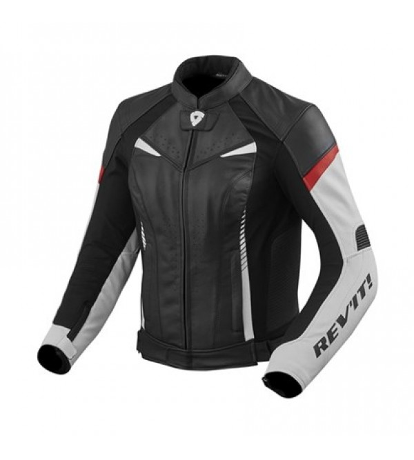 Rev'it Leather Ladies Jacket Xena 2 White-Red