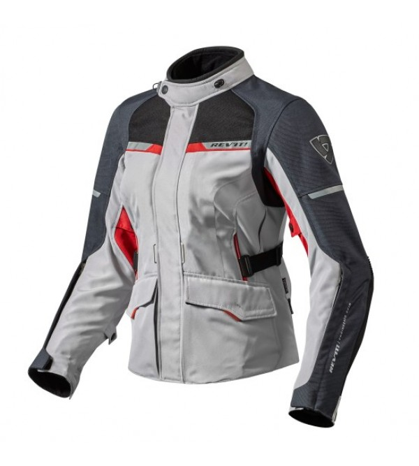 Rev'it Lady jacket Outback 2 Silver-Red