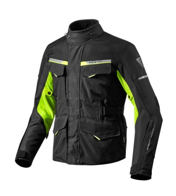 Rev'it jacket Outback 2 Black- Neon Yellow