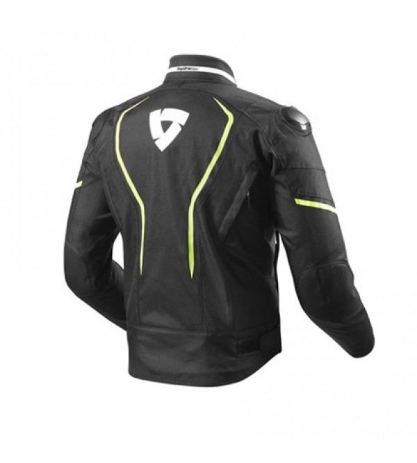 Rev'it jacket Vertex H2O Black/Neon Yellow