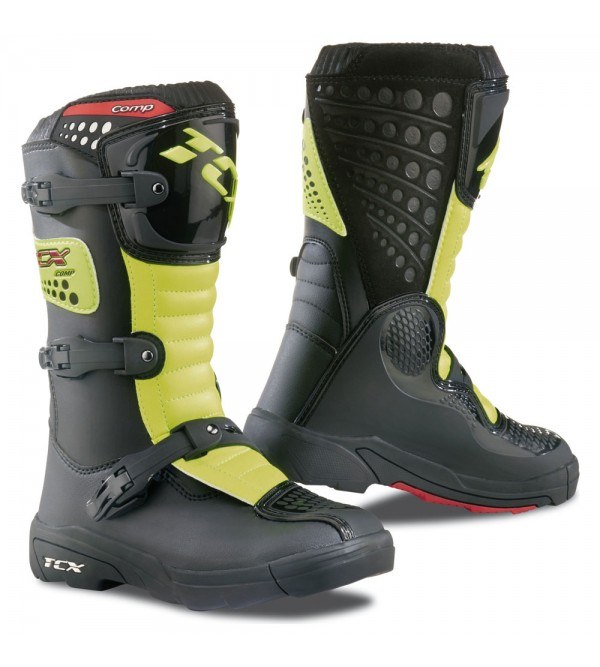 TCX Kids Boots COMP BLACK-YELLOW FLUO